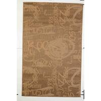 Jazz Indoor/Outdoor Rugs Flatweave Contemporary Patio, Pool, Camp and Picnic Carpets FW 546 Gold 4' x 6' - 4' x 6'