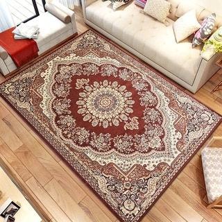Persian Style Traditional Oriental Medallion Area Rug Empire 1100 Beige 8' x 10' - 8' x 10'