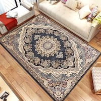 Persian Style Traditional Oriental Medallion Area Rug Empire 1050 Beige 5' x 7' - 5' x 7'