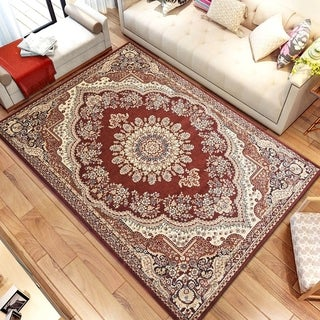 Persian Style Traditional Oriental Medallion Area Rug Empire 1100 Beige 5' x 7' - 5' x 7'
