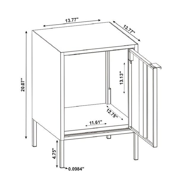 Porch & Den Smokette Metal 1-cabinet Nightstand