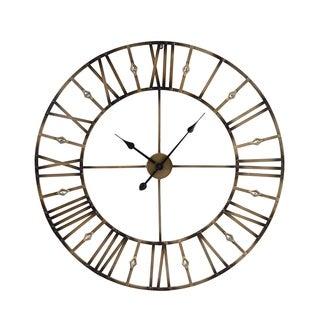 Jeweled Metal Wall Clock