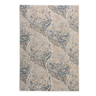 "Capel Rugs Kevin O'Brien Perennial Blue Machine Woven Rectangle Area Rug - 3' 11"" x 5' 6"""