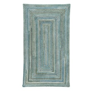 Capel Rugs Alliance Thyme Braided Concentric Rectangle Area Rug - 5' x 8'