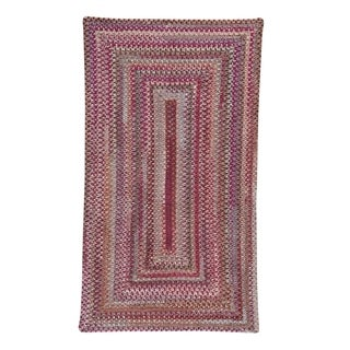 Capel Rugs Handmade Alliance Ruby Braided Concentric Rectangle Area Rug - 5' x 8'