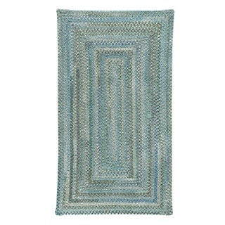Capel Rugs Alliance Thyme Braided Concentric Rectangle Area Rug - 7' x 9'