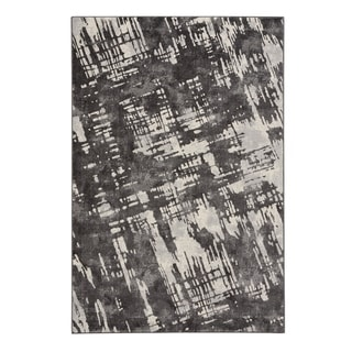 """Capel Rugs Kevin O'Brien Sketch Grey Machine Woven Rectangle Area Rug - 3' 11"""" x 5' 6"""""""