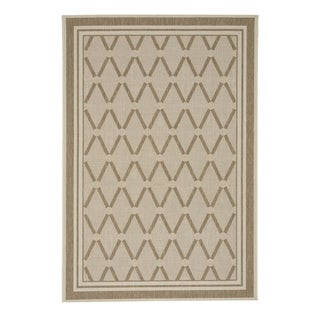 "Capel Rugs Biltmore Elsinore-Lattice Wheat Machine Woven Rectangle Area Rug - 3' 11"" x 5' 6"""
