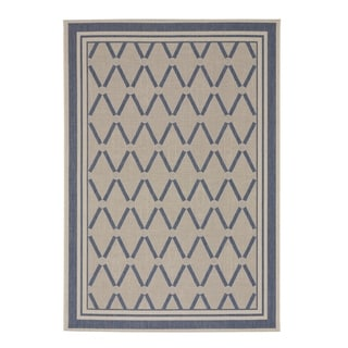 "Capel Rugs Biltmore Elsinore-Lattice Blueberry Machine Woven Rectangle Area Rug - 3' 11"" x 5' 6"""