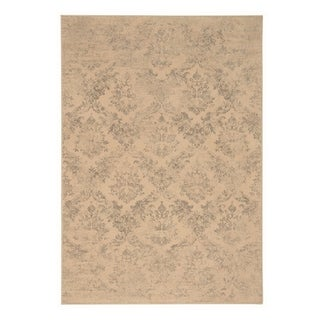 "Capel Rugs Kevin O'Brien Gilt Silver Machine Woven Rectangle Area Rug - 7' 10"" x 11'"
