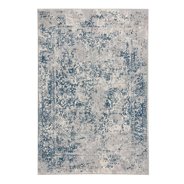 "Capel Rugs Votive Blue Machine Woven Rectangle Area Rug - 3' 11"" x 5' 6"""