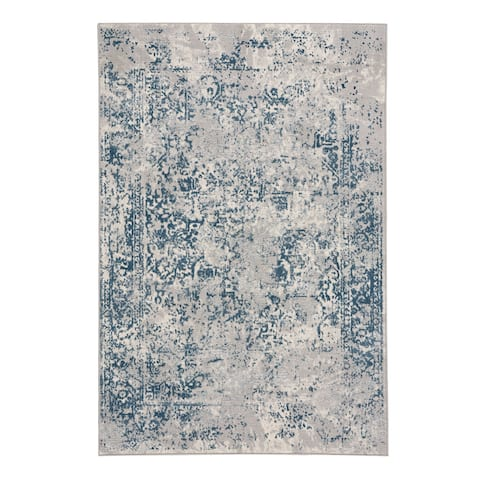 "Capel Rugs Votive Blue Machine Woven Rectangle Area Rug - 3' 11"" x 5' 6"""
