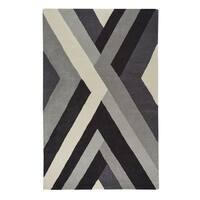Capel Rugs Handmade Genevieve Gorder Crossroads Grey Rectangle Area Rug - 8' x 10'