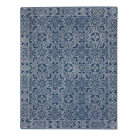 Capel Rugs Colrain Blue Hand Tufted Rectangle Area Rug - 9' x 12'