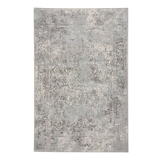 "Capel Rugs Votive Grey Machine Woven Rectangle Area Rug - 3' 11"" x 5' 6"""