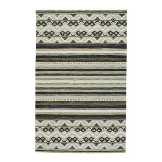 "Capel Rugs Shakta-Kelim Paper Birch Hand Tufted Rectangle Area Rug - 3' 6"" x 5' 6"""