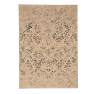"Capel Rugs Kevin O'Brien Gilt Cream Green Machine Woven Rectangle Area Rug - 7' 10"" x 11'"
