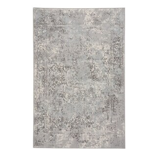 "Capel Rugs Votive Grey Machine Woven Rectangle Area Rug - 5' 3"" x 7' 6"""