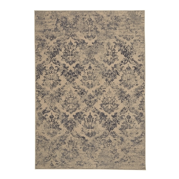 "Capel Rugs Kevin O'Brien Gilt Azure Machine Woven Rectangle Area Rug - 7' 10"" x 11'"