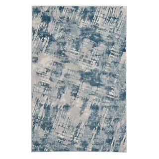 "Capel Rugs Kevin O'Brien Sketch Blue Machine Woven Rectangle Area Rug - 3' 11"" x 5' 6"""