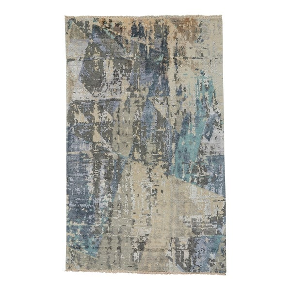 Capel Rugs Vanida Blue Grey Hand Knotted Rectangle Area Rug - 9' x 12'
