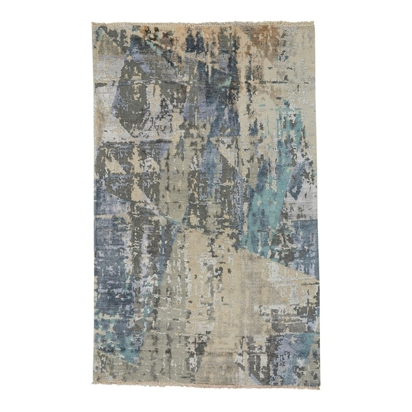 Capel Rugs Vanida Blue Grey Hand Knotted Rectangle Area Rug - 8' x 10'