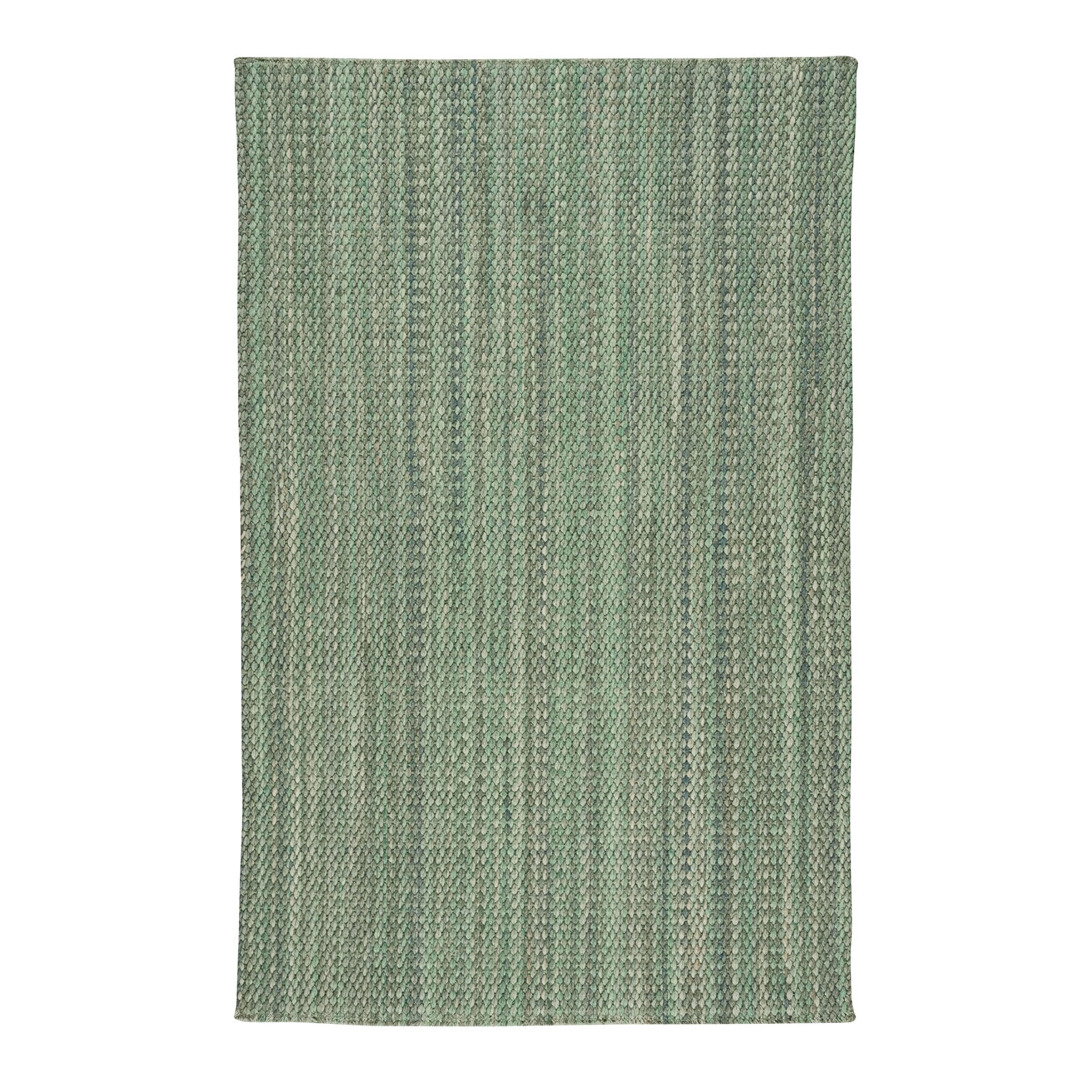 Light Green Flat Woven Vertical Stripe