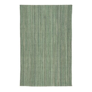 Capel Rugs Lawson Light Green Flat Woven Vertical Stripe Rectangle Accent Rug - 2' x 3'