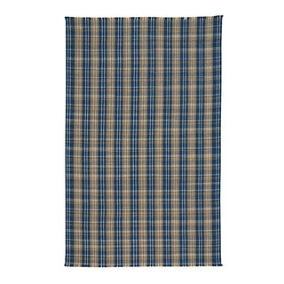 Capel Rugs Thames Azure Flat Woven Vertical Stripe Rectangle Accent Rug - 2' x 3'