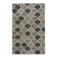 Capel Rugs Genevieve Gorder Arches Grey Wool Handmade Area Rug - 3'6 x 5'6
