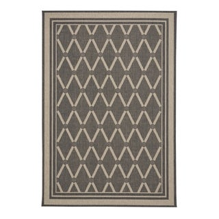 "Capel Rugs Biltmore Elsinore-Lattice Carbon Machine Woven Rectangle Area Rug - 3' 11"" x 5' 6"""