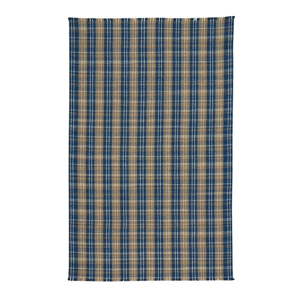 Capel Rugs Thames Azure Flat Woven Vertical Stripe Rectangle Area Rug - 8' x 11'