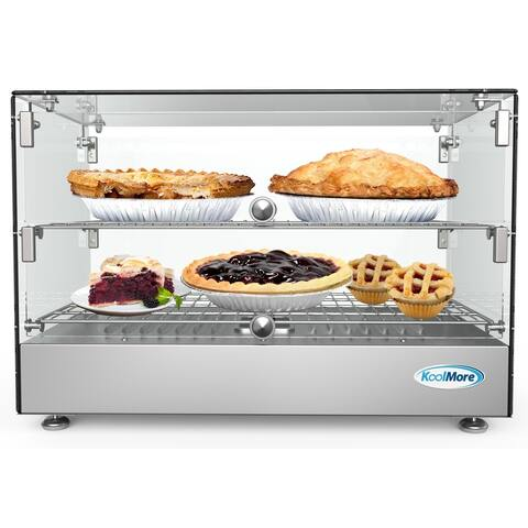 22-Inch Self Service Commercial Countertop Food Warmer Display Case 1.7 cu.ft. - N/A