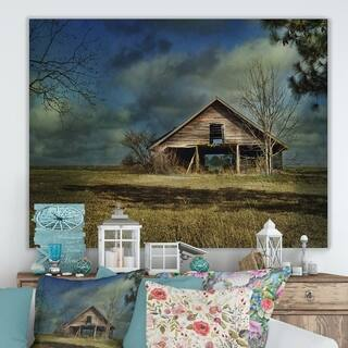 Designart 'Storm Barn II' Farmhouse Premium Canvas Wall Art