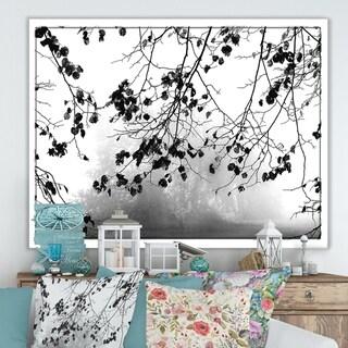 Designart 'Overhang Design' Cottage Canvas Wall Art