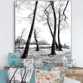 Designart 'Group Of Winter' Cottage Gallery-wrapped Canvas