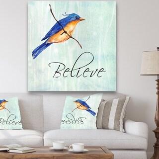 Designart 'Bird Inspiration III' Cottage Premium Canvas Wall Art