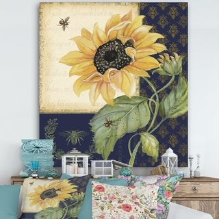 Porch & Den 'Sunflower Melody-B' Cottage Canvas Art Print