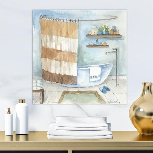 . Contemporary Bathroom I  Canvas Wall Art