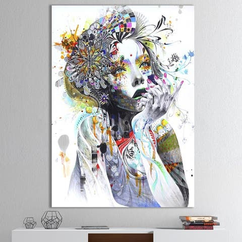 Designart 'Circulation' Modern & Contemporary Canvas Artwork