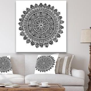 Designart 'Mandala Drawing' Traditional Canvas Art Print