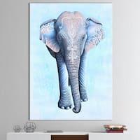 Designart 'Painted Asian Elephant' Cottage Premium Canvas Wall Art