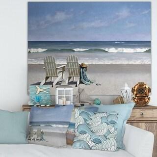 Designart 'Tide Watching' Nautical & Coastal Canvas Art Print