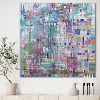 Porch & Den 'Matrix Colour Field' Premium Canvas Wall Art