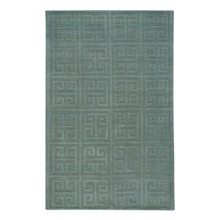 Capel Rugs Atrium-stamp Light-green Handmade Rectangle Area Rug - 8' x 10'
