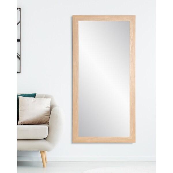 Pale Farmhouse Floor Mirror - Natural
