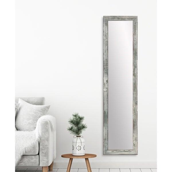 Farmhouse Sage Slim Full Length Mirror - Sage/Brown/Gray