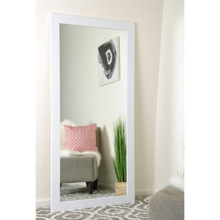 Farmhouse Pearl White Full Length Floor Mirror - Pearl White