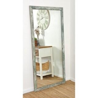 Farmhouse Sage Floor Mirror - Sage/Brown/Gray