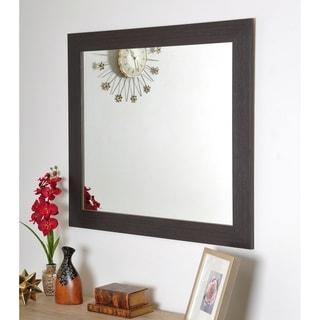Modern Farmhouse Dark Brown Accent Mirror - Dark Brown